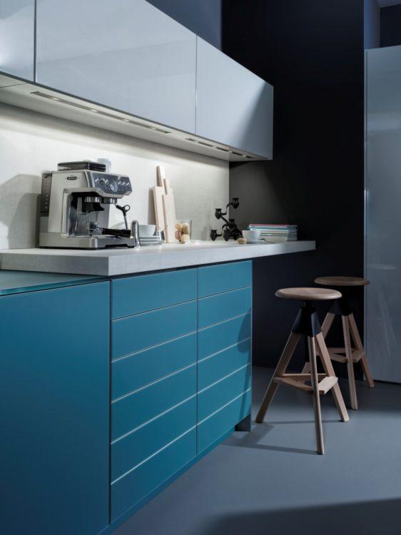 Инновационное дизайнерское решение, которое создает на кухне атмосферу свежести и прохлады.
