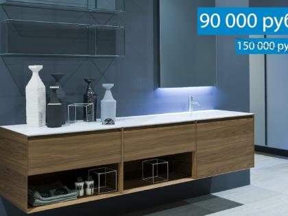 Мебель и сантехника для ванной комнаты со скидкой с экспозиции салона Sanilux!