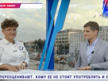 «Санилюкс» в прямом эфире «Первого городского» телеканала